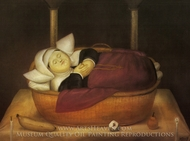 New-born Nun painting reproduction, Fernando Botero