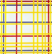 New York City I painting reproduction, Piet Mondrian