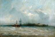 New York from the Harbor Showing the Battery and Castle Garden painting reproduction, Alfred Copestick