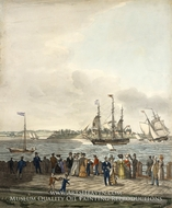 New York Harbor from the Battery by Thomas Thompson