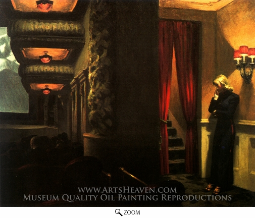 Edward Hopper, New York Movie oil painting reproduction