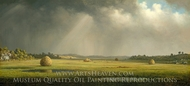 Newburyport Meadows painting reproduction, Martin Johnson Heade