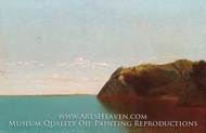 Newport Rocks painting reproduction, John Frederick Kensett