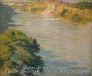 Niagara Falls painting reproduction, Philip L. Hale