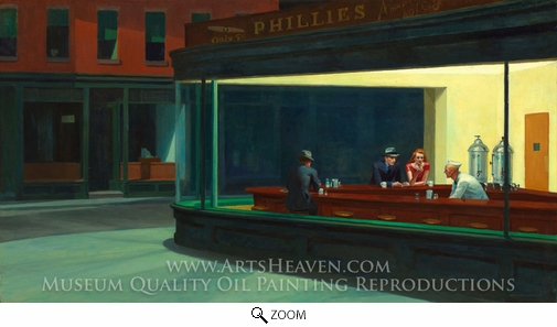 Edward Hopper, Nighthawks oil painting reproduction