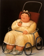 Nina painting reproduction, Fernando Botero
