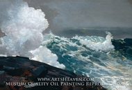 Northeaster painting reproduction, Winslow Homer