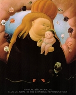 Notre Dame of New York painting reproduction, Fernando Botero