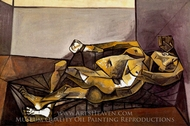 Nu Couche painting reproduction, Pablo Picasso (inspired by)