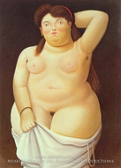 Nude painting reproduction, Fernando Botero