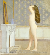 Nude Before a Mirror painting reproduction, Balthus