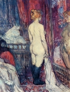 Nude Standing before a Mirror by Henri De Toulouse-Lautrec