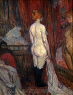 Nude Standing before a Mirror painting reproduction, Henri De Toulouse-Lautrec