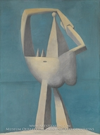 Nude Standing by the Sea by Pablo Picasso (inspired by)