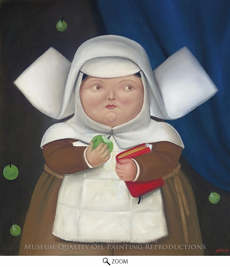Fernando Botero, Nun Eating Apple oil painting reproduction