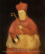 Nuncio painting reproduction, Fernando Botero