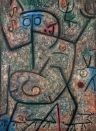 O die Geruchte painting reproduction, Paul Klee