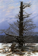 Oak Tree in Snow by Caspar David Friedrich