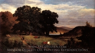 Oak Trees painting reproduction, Edward Bannister