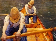 Oarsmen painting reproduction, Gustave Caillebotte