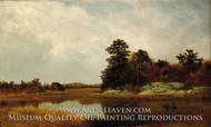 October in the Marshes painting reproduction, John Frederick Kensett
