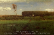 October Noon painting reproduction, George Inness