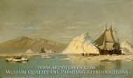 Off Greenland, Whaler Seeking Open Water by William Bradford