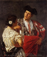 Offering the Panel to the Bullfighter painting reproduction, Mary Cassatt