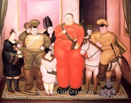 Official Portrait of the Military Junta by Fernando Botero