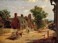 Old Annapolis, Francis Street painting reproduction, Francis Blackwell Mayer
