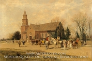 Old Bruton Church, Williamsburg, Virginia, in the Time of Lord Dunmore by Alfred Wordsworth Thompson