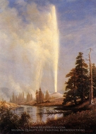Old Faithful painting reproduction, Albert Bierstadt