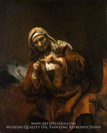 Old Woman Cutting Her Nails by Rembrandt Van Rijn
