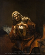 Old Woman Cutting Her Nails painting reproduction, Rembrandt Van Rijn