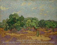 Olive Trees painting reproduction, Vincent Van Gogh