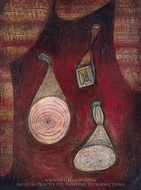 Omega 5 painting reproduction, Paul Klee