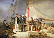 On Board the yacht Alarm painting reproduction, Nicolas Matthew Condy