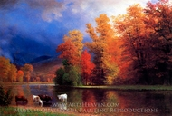 On the Saco painting reproduction, Albert Bierstadt