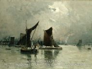 On the Thames painting reproduction, Frank Myers Boggs
