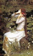 Ophelia painting reproduction, John William Waterhouse