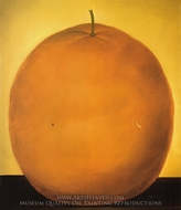Orange painting reproduction, Fernando Botero