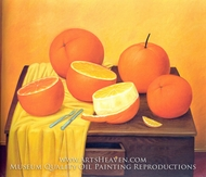 Oranges by Fernando Botero