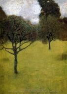 Orchard painting reproduction, Gustav Klimt