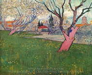 Orchards in Blossom, View of Arles painting reproduction, Vincent Van Gogh