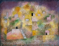 Oriental Pleasure Garden painting reproduction, Paul Klee