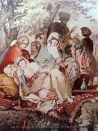 Ottoman People painting reproduction, Amedeo Preziosi