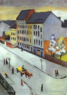 Our Street in Gray by August Macke