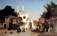 Outside the Mosque painting reproduction, Brest Germain Fabius