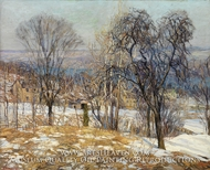 Overlooking the Valley by Edward Willis Redfield