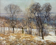 Overlooking the Valley painting reproduction, Edward Willis Redfield